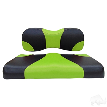 Black / Green 2 Tone Seat Cushion Set for Yamaha Drive (G29)