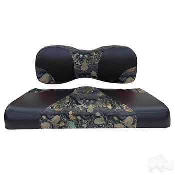 Black / Camo 2 Tone Seat Cushion Set for Yamaha DRIVE2