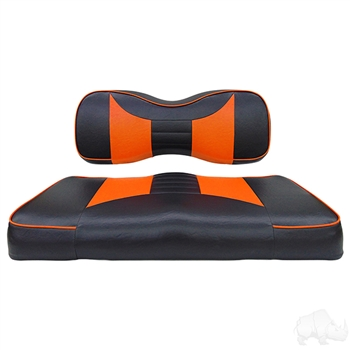 Black / Orange 2 Tone Seat Cushion Set for Yamaha DRIVE2