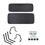 Black Yamaha G1 Golf Cart Seat Conversion Kit