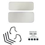 White Yamaha G1 Golf Cart Seat Conversion Kit