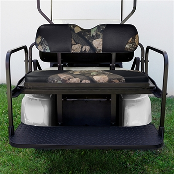 Aluminum Rear Seat Kit with Camo Cushions for EZ GO TXT