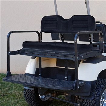 Lightweight Black Aluminum RHOX RHINO 400 Rear Seat Kit for Yamaha Golf Carts