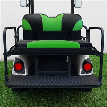 Aluminum Rear Seat Kit with Green Cushions for Yamaha Drive (G29)