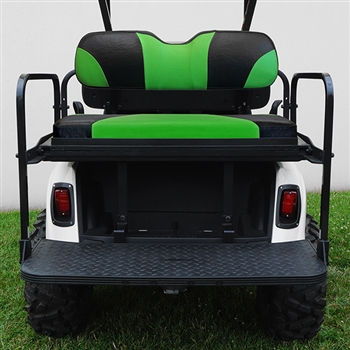 RHOX RHINO 400 Aluminum Rear Seat Kit for EZ GO RXV - Black Green