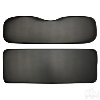 Golf Cart Rear Seat Replacement Cushions in Black