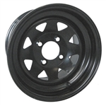Black 12X7.5 Steel Wheel Offset 3:4.5