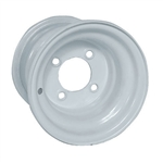 White Steel 8X7 Standard Wheel