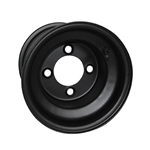 Black Steel 8X7 Golf Cart Wheels