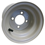 "8"" Stone Colored Steel Yamaha Golf Cart Wheels"