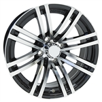 "Achieva AC528 Split Spoke Aluminum 15"" Golf Cart Wheels"