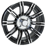 "Achieva AC538 Double Spoke Aluminum 15"" Golf Cart Wheels"