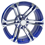 "15"" Blue Golf Cart Wheels AC568-BL Wheels"