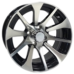 RHOX AC604 Machined & Black 14X6 Offset Aluminum Wheel