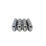 "Chrome Standard 1/2"" - 20 Closed End Lug Nut, Box of 16 (3/4"" Socket)"