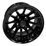 RX104 Black 12X7 Offset Aluminum Wheel