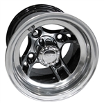 Brickyard, Machined w/Black 8X7 Offset Aluminum Wheel