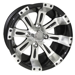 RX171 Vegas Machined w/Black 12X6 Centered Aluminum Wheel