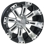 Vegas Machined w/Black 12X7 Offset Aluminum Wheel