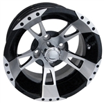 RX200 Machined w/Black 12X6 Centered Aluminum Wheel