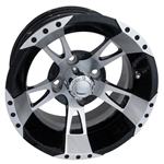 RX210 Machined w/Black 12X7 Offset Aluminum Wheel