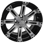 RX220 Vegas Machined w/Black 14X7 Offset Aluminum Wheel