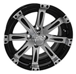 RX230 Vegas Machined w/Black 14X6 Centered Aluminum Wheel
