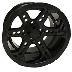 RX262 Black 14X7 Offset Aluminum Wheel