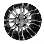 RHOX RX270 Mach / Black 12X7 Offset Aluminum Wheel