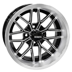RHOX RX282 Machined & Black 14X6 Offset Aluminum Wheel