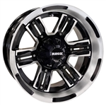RX285 Machined & Matte Black 14X7 Offset Aluminum Wheel