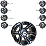 RHOX RX333 Mach / Black 12X7 Offset Aluminum Wheel