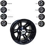 RHOX RX334 Black 12X7 Offset Aluminum Wheel