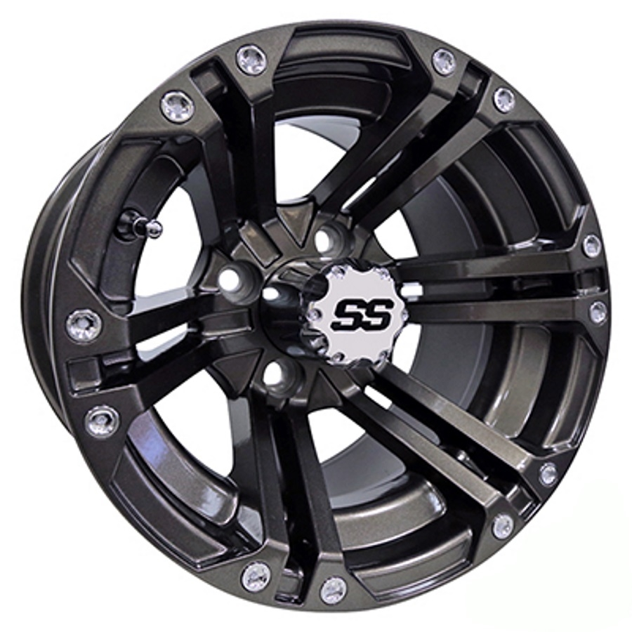 RHOX SS RX355 Gun Metal Gray 14X7 Offset Aluminum Wheel