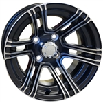 RHOX RX360 SS Machined w/Black 12X7 Offset Aluminum Wheel