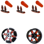 "Orange Wheel Inserts for 12"" RX250/RX252 Wheels"