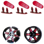"Red Wheel Inserts for 12"" RX250/RX252 Wheels"