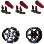 "Burgundy Wheel Inserts for 14"" RX260/RX262 Wheels"