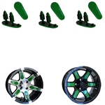 "Lime Green Wheel Inserts for 14"" RX260/RX262 Wheels"