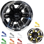 Colored Wheel Inserts for RHOX RX285 Golf Cart Wheels