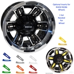 Colored Wheel Inserts for RHOX RX286 Golf Cart Wheels