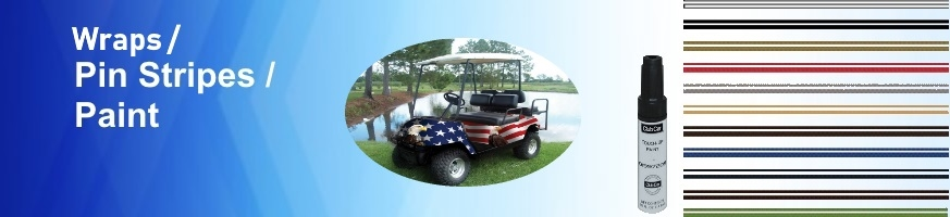 Golf Cart Body Wraps, Pinstripe Decals, & Touch Up Paint Kits
