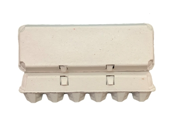 12ct Blank Egg Cartons