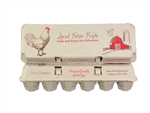 12-egg Solid Top Egg Carton Red/Brown Design - 140 units