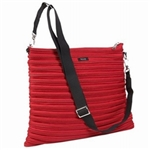 BAM BAGS Zippurse Crimson Designer Messenger Backpack