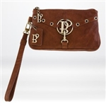 Bolzano City Stich Wristlet Brown