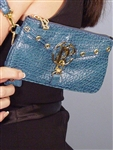 Bolzano City Stich Wristlet Blue