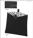 Clutch Bags Black Canvas Lunch Bag