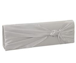 Coloriffics HB210 Satin Clutch With Knot Silver