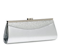 Coloriffics HB289 Soft Silver With Silver Glitter Clutch